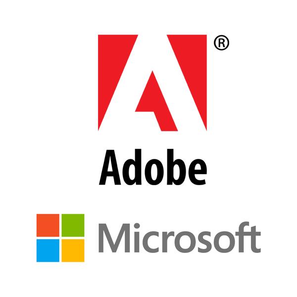 Adobe & Microsoft icons