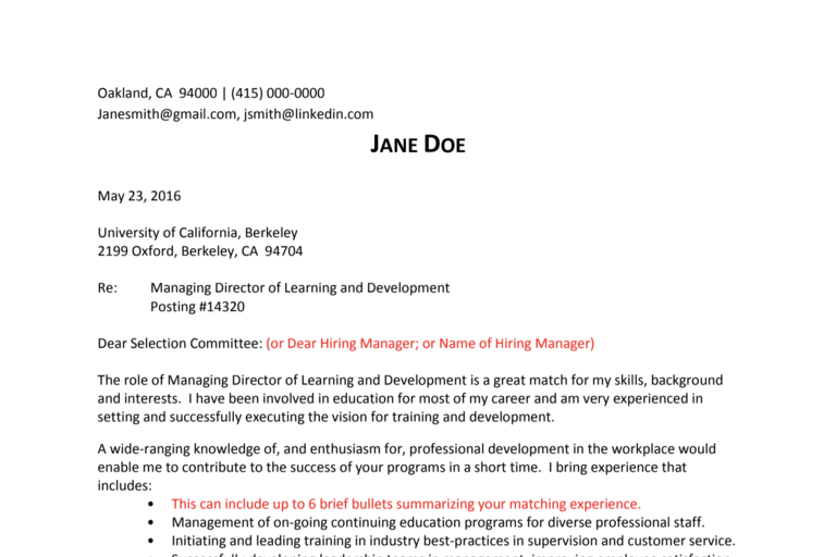 Dear Hiring Manager Cover Letter from hr.berkeley.edu