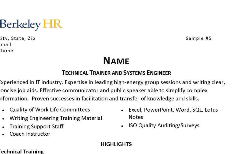 resume human resources