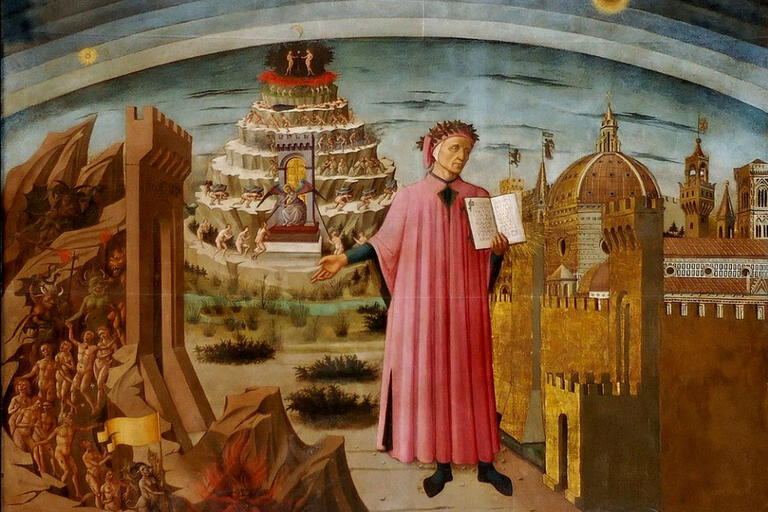 image of Dante from the epic poem The Divine Comedy