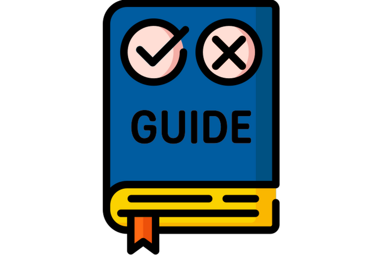 """Icon of a book that says """"Guide"""" on the cover"""