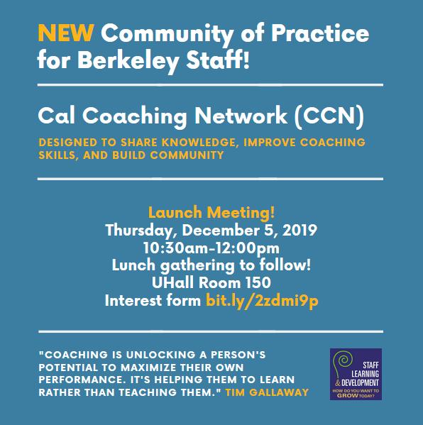 Cal Coaching Network Launch Flyer