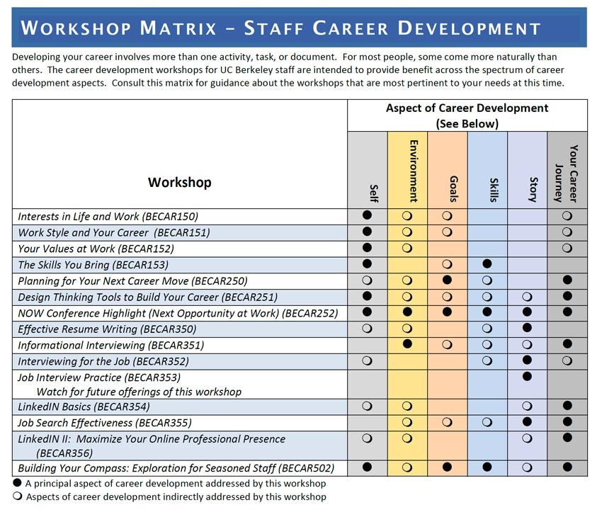 Career Development Matrix July 19 Image