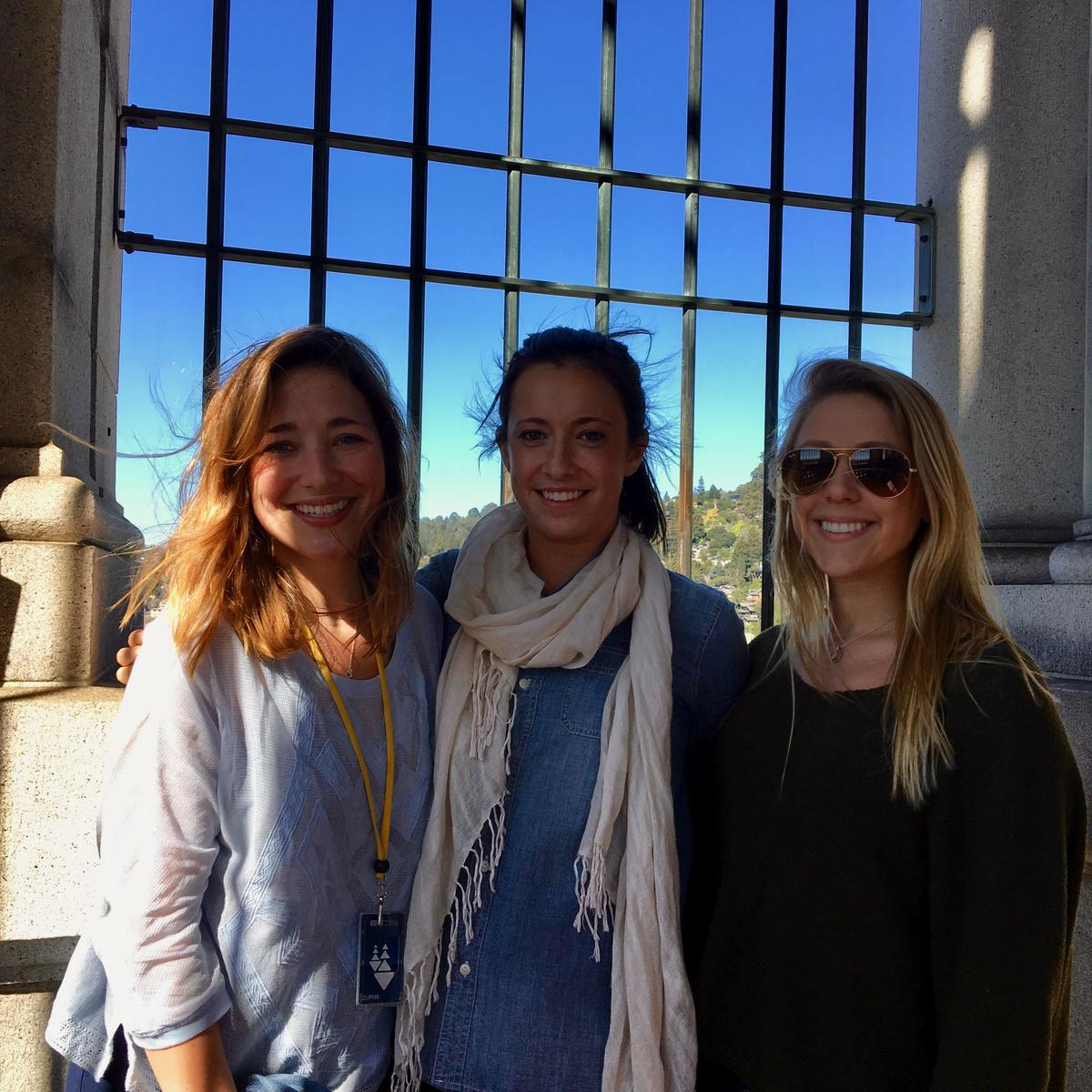 Friends and the Campanile